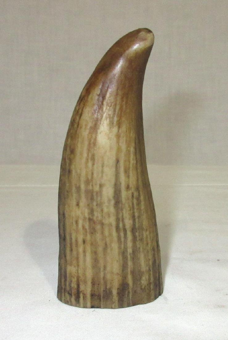 Modern Composition Scrimshaw Whale Tooth - 2