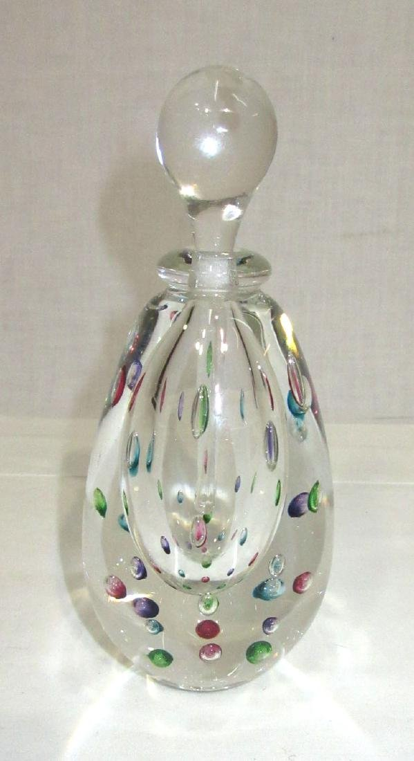 Art Glass Perfume Bottle Paperweight