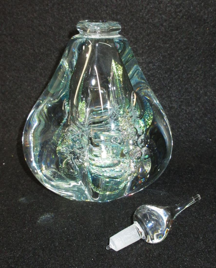 Art Glass Perfume Bottle Paperweight - 2