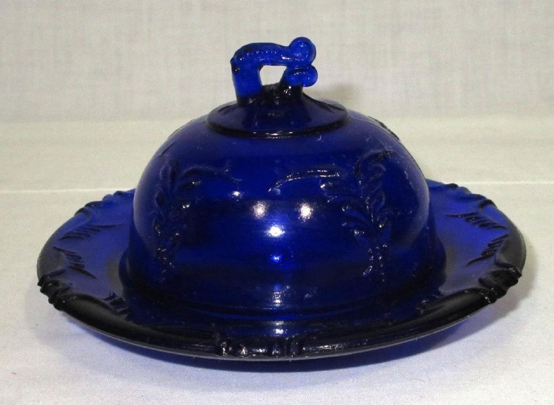 Small Cobalt Butter Dish