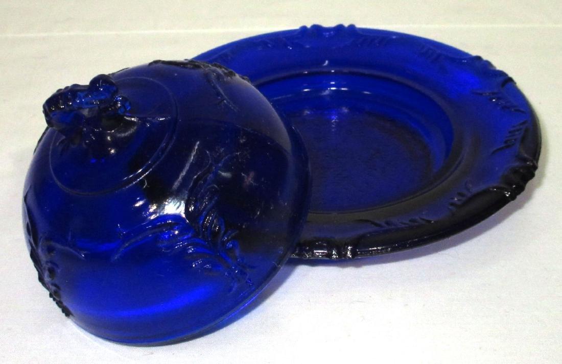 Small Cobalt Butter Dish - 2