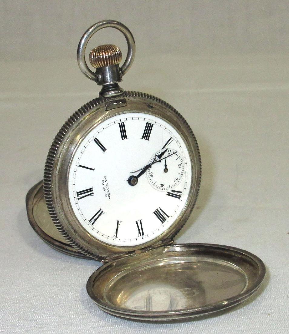 Waltham Coin Silver H.C. Pocket Watch