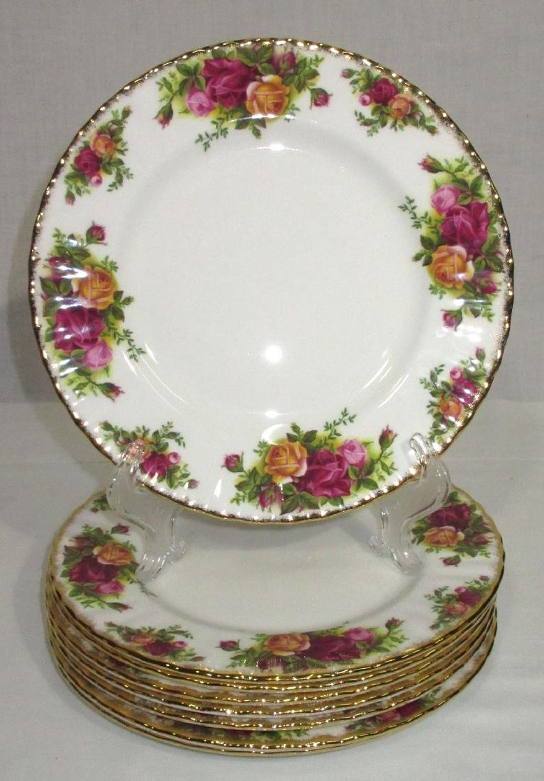 8 Royal Albert Old Country Roses Plates