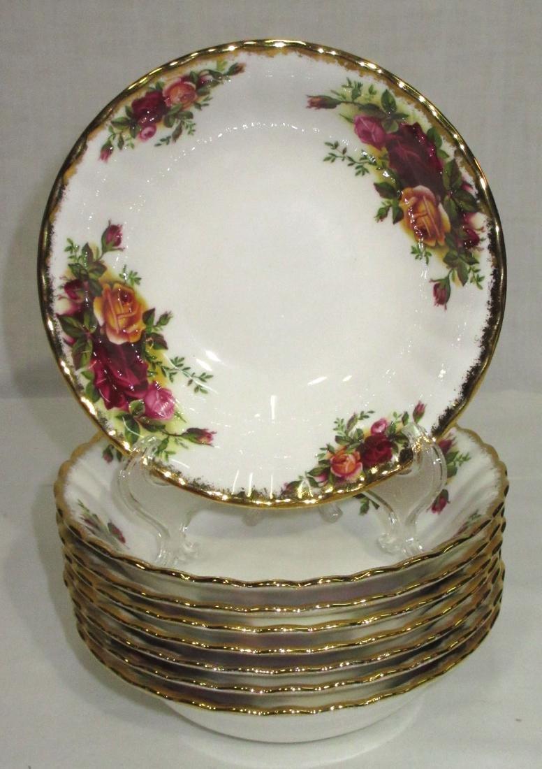 8 Royal Albert Old Country Roses Bowls