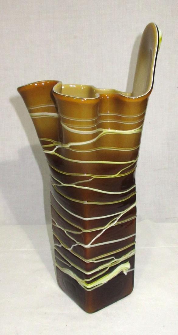 Lg. Art Glass Vase - 2