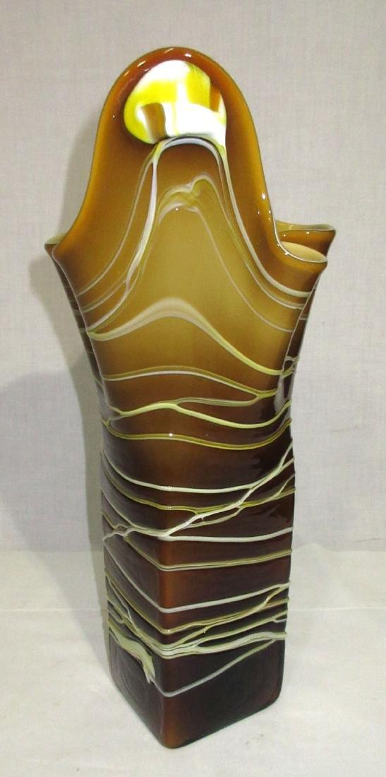 Lg. Art Glass Vase - 3