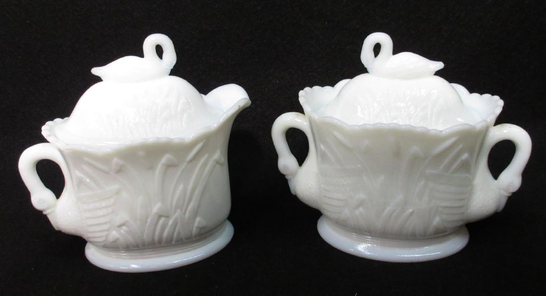 Pr. Westmorland Milk Glass C&S