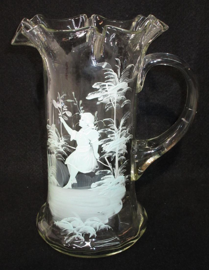 Blown Glass Mary Gregory Tankard