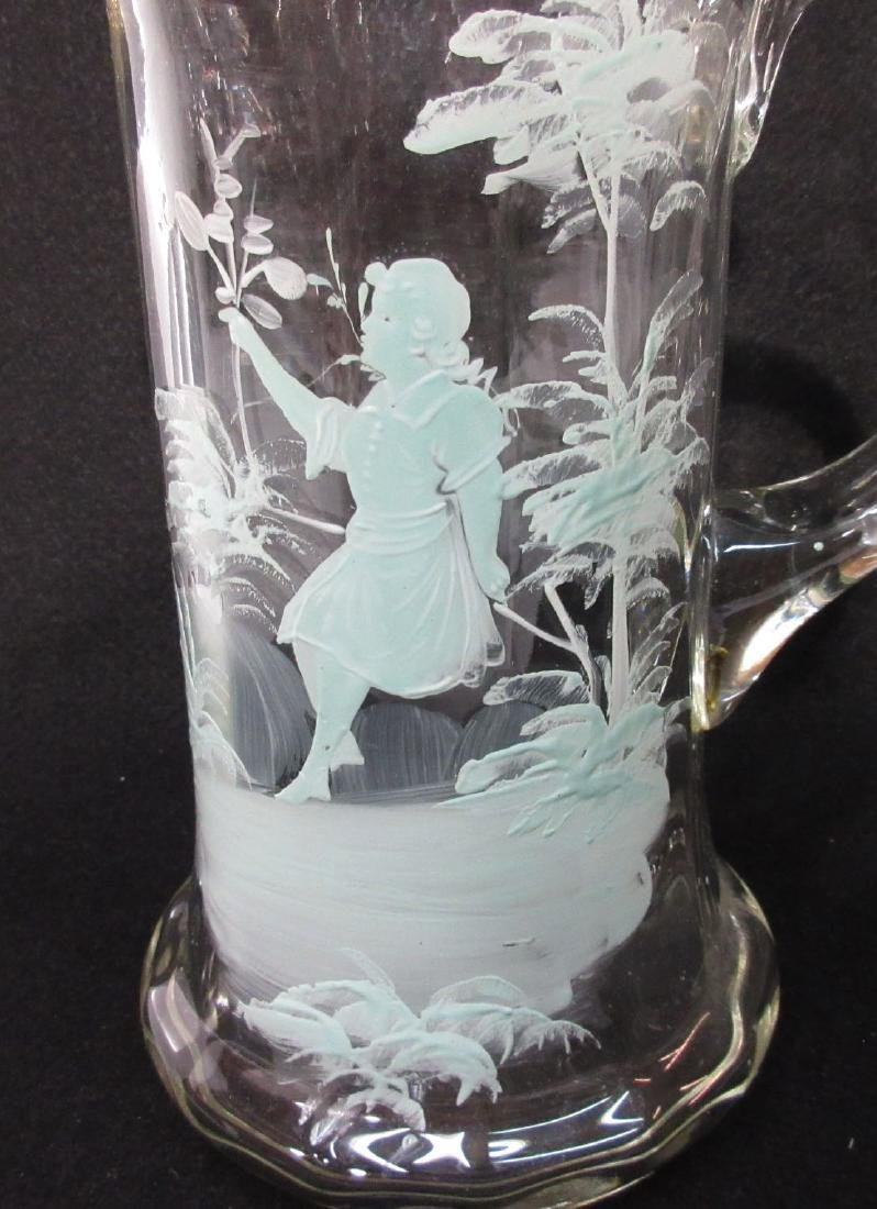Blown Glass Mary Gregory Tankard - 2