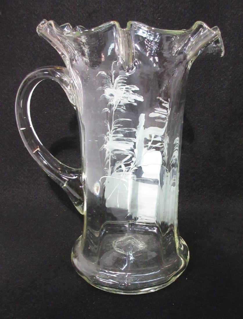 Blown Glass Mary Gregory Tankard - 3