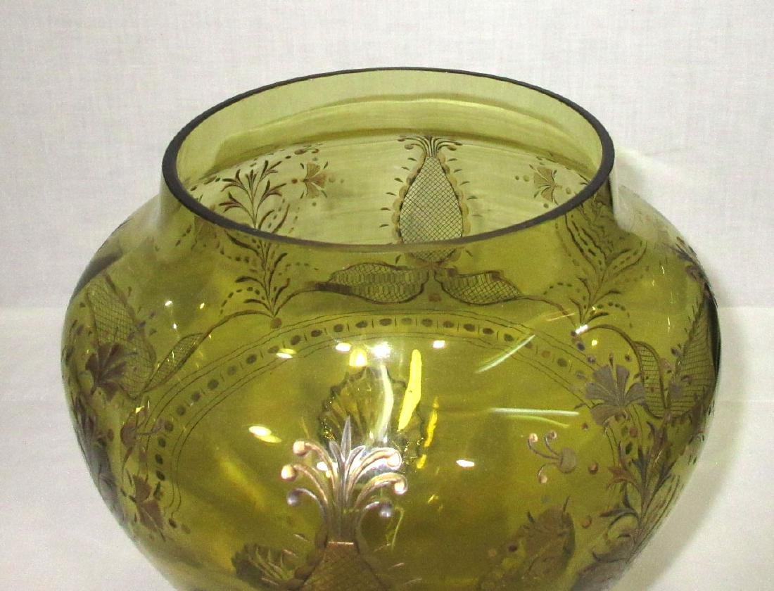 Moser Etched Punch Bowl - 4