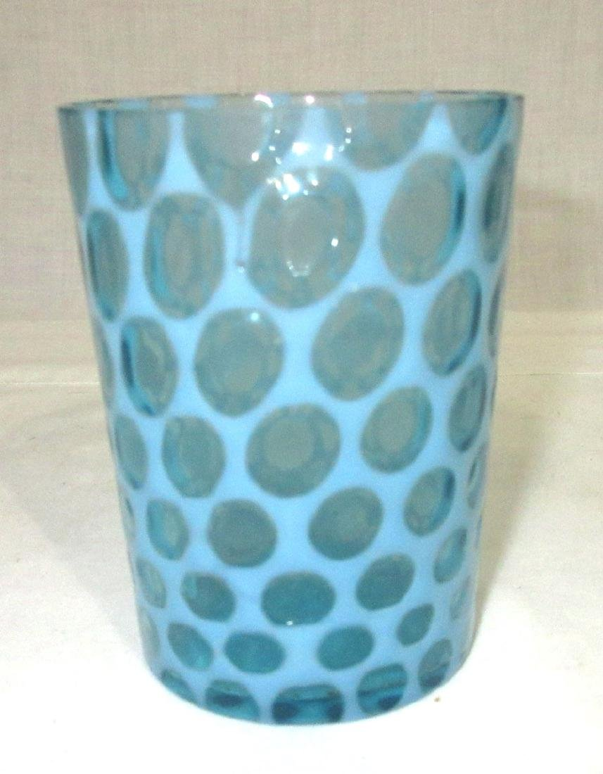 Victorian Blue Opalescent Tumblers