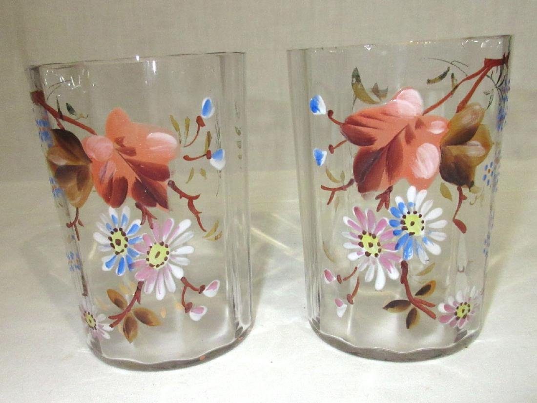 2 Victorian Enameled Tumblers