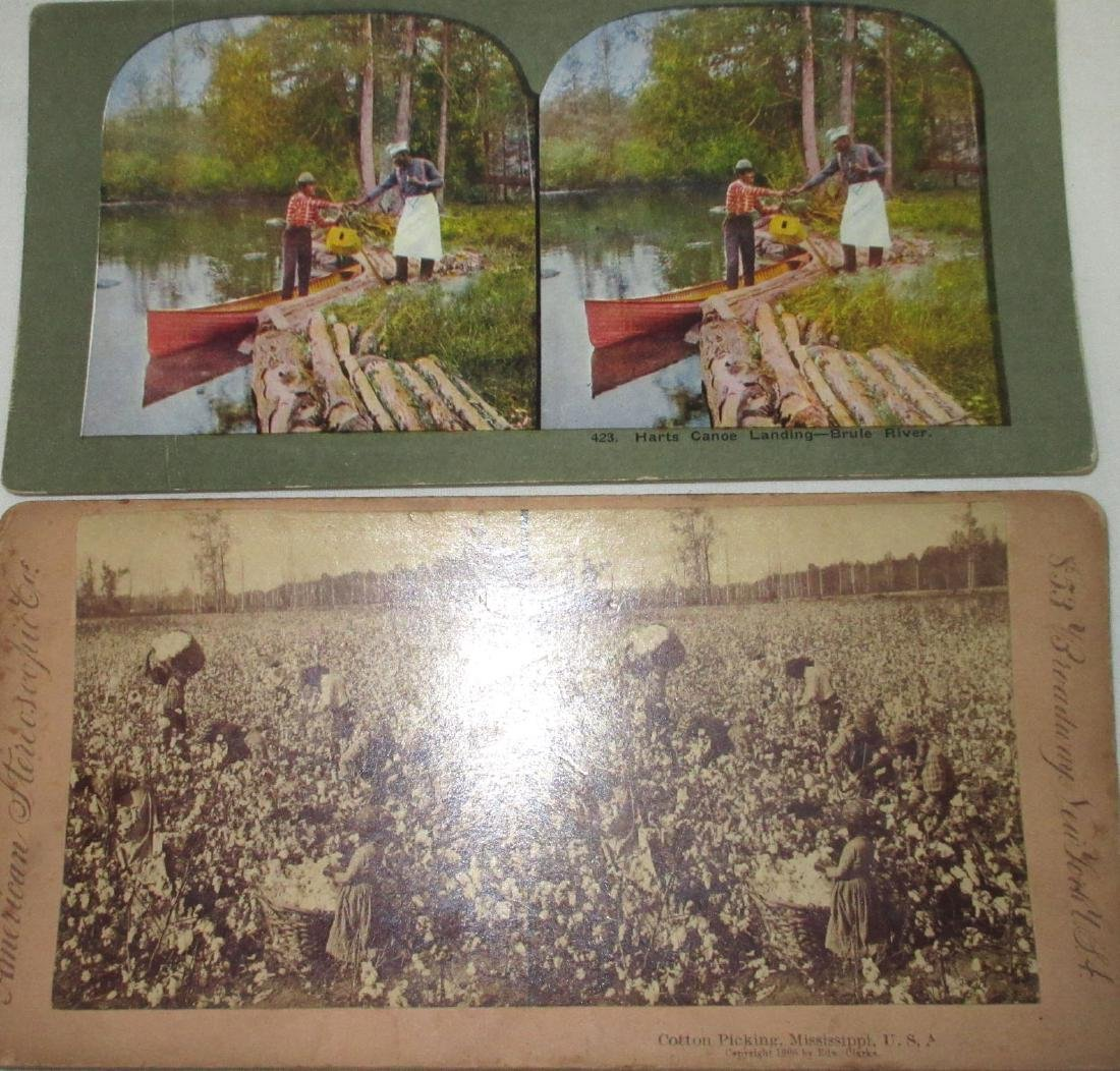 5 Black Americana Stereograph View Cards - 2