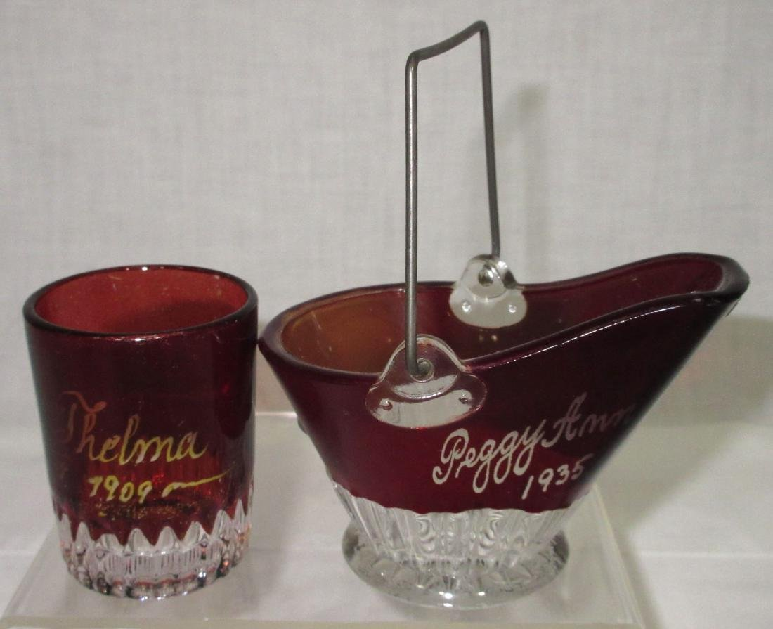 4pc Ruby Flash Glass - 2
