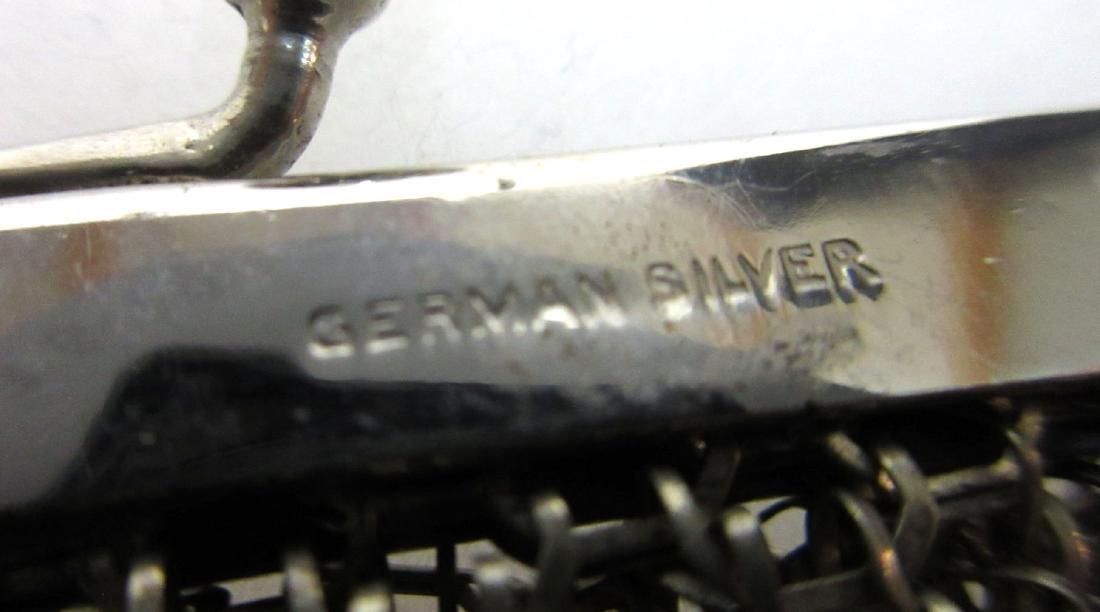 German Silver Mesh Purse - 3