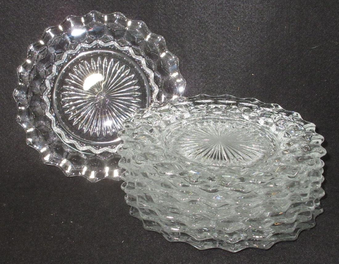 8 American Fostoria Plates