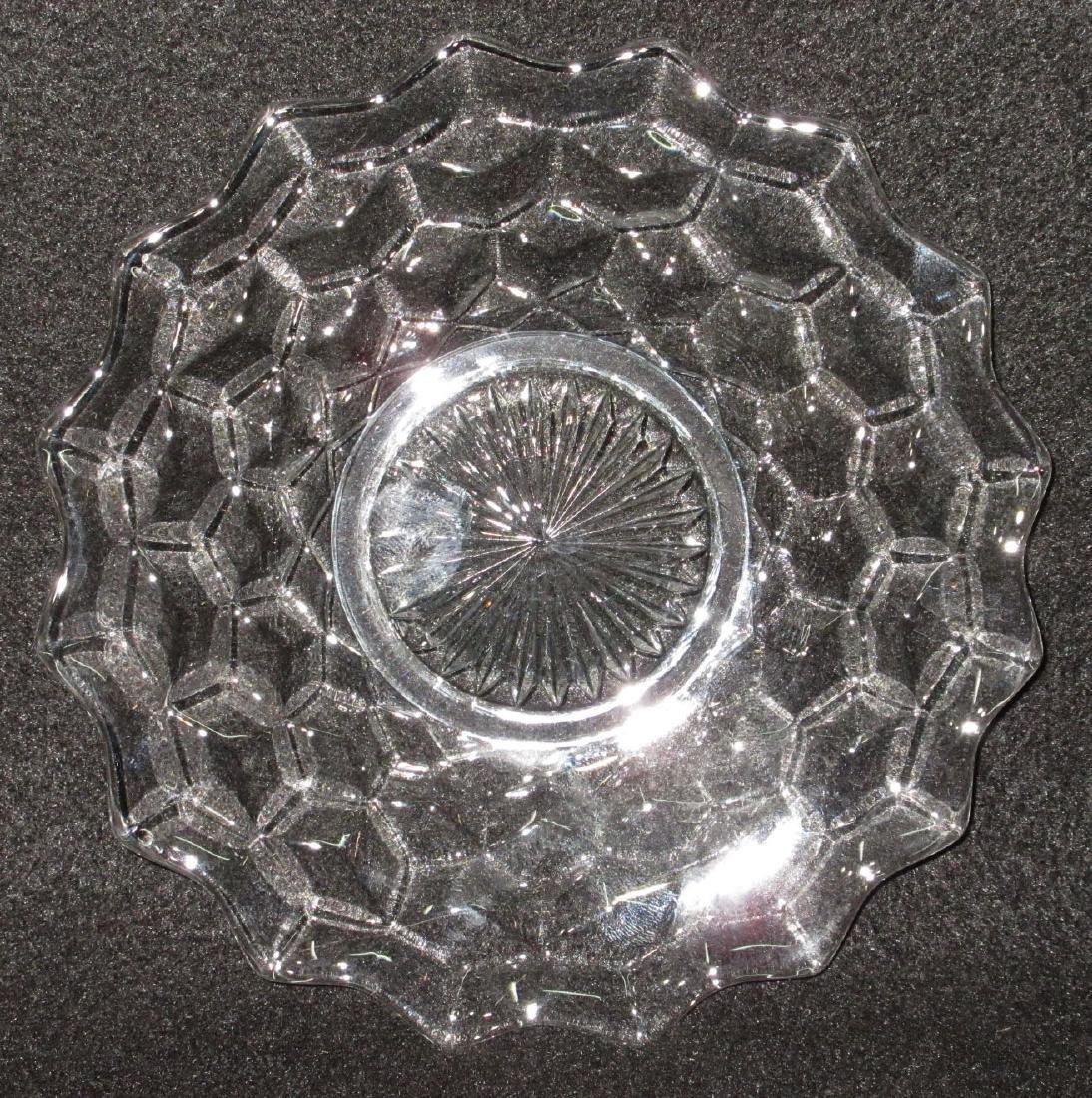 8 American Fostoria Plates - 2