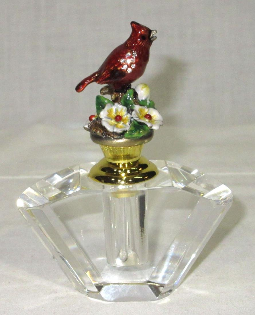 Enameled Bird Perfume Bottle