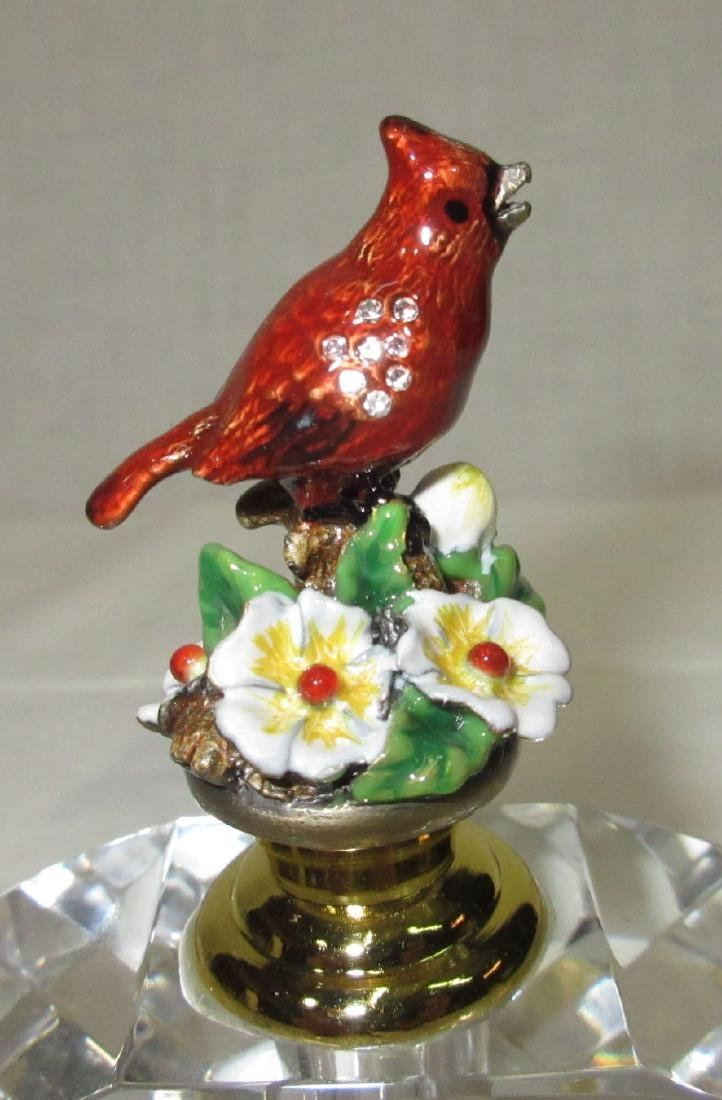 Enameled Bird Perfume Bottle - 2