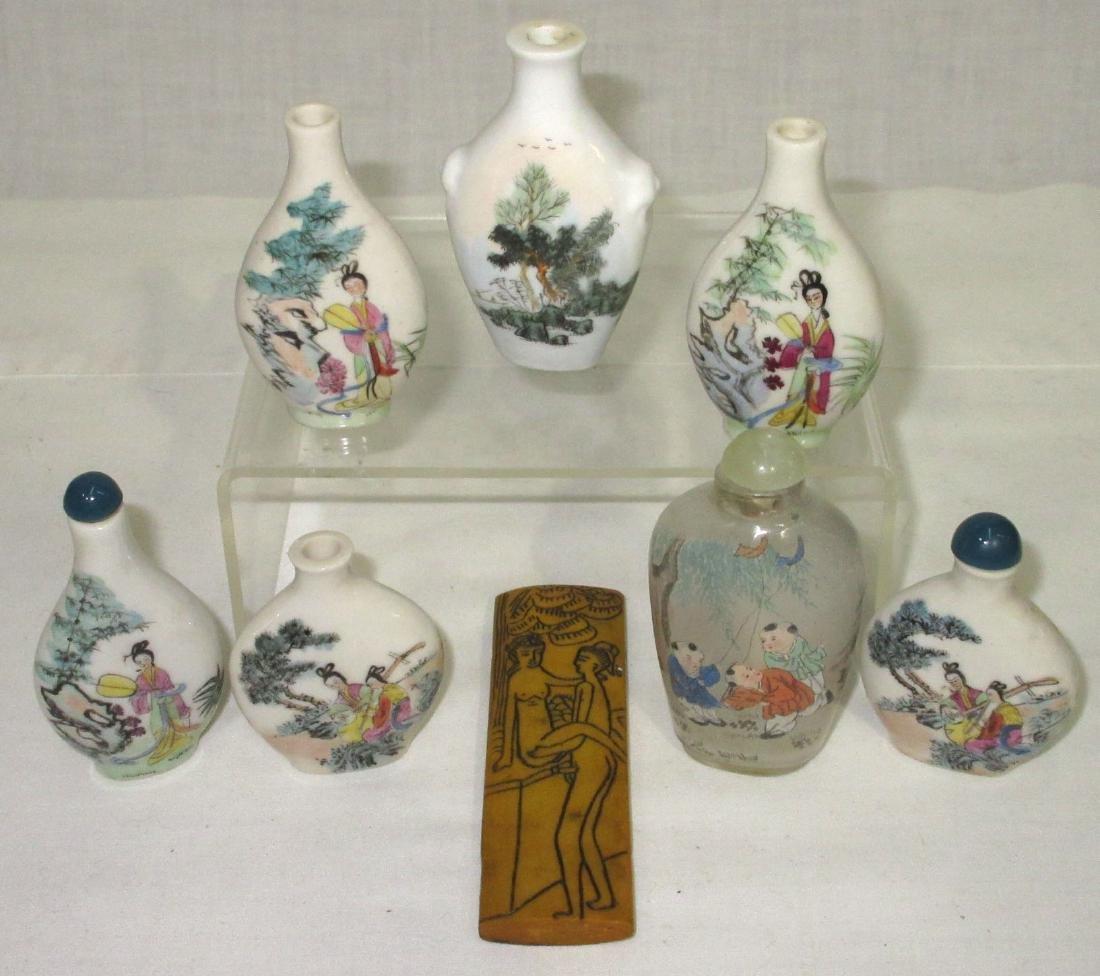 7 Oriental Snuff Bottles, Etc.