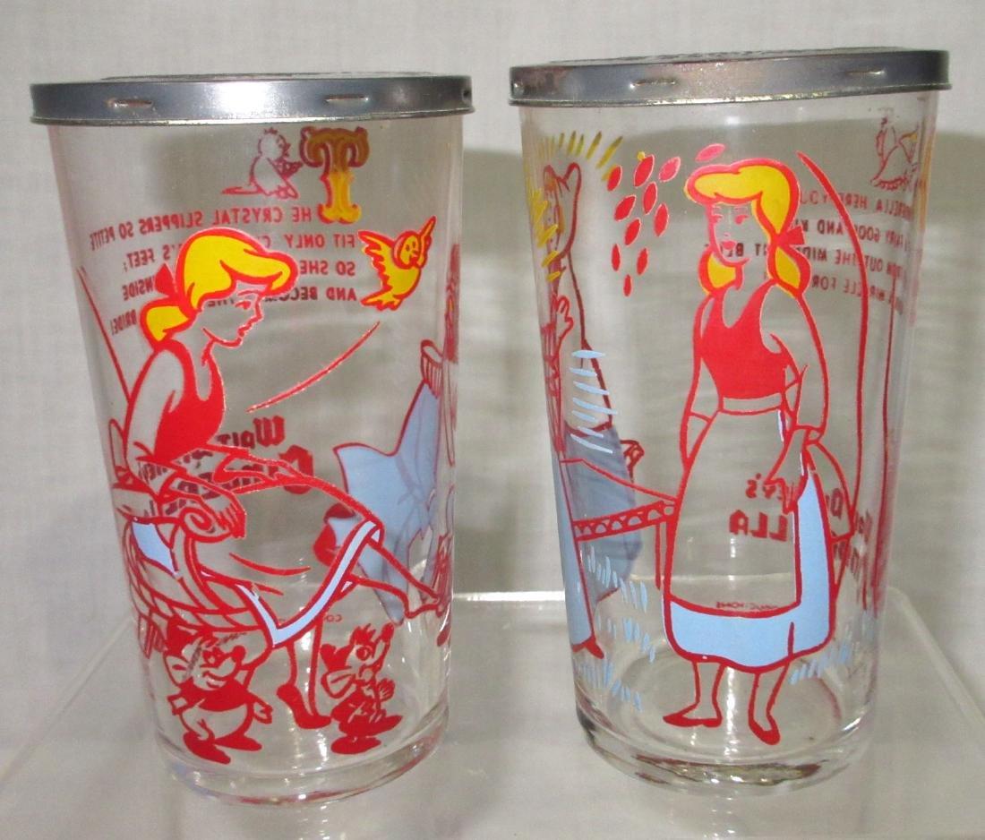 4 Walt Disney Cottage Cheese Glasses - 2