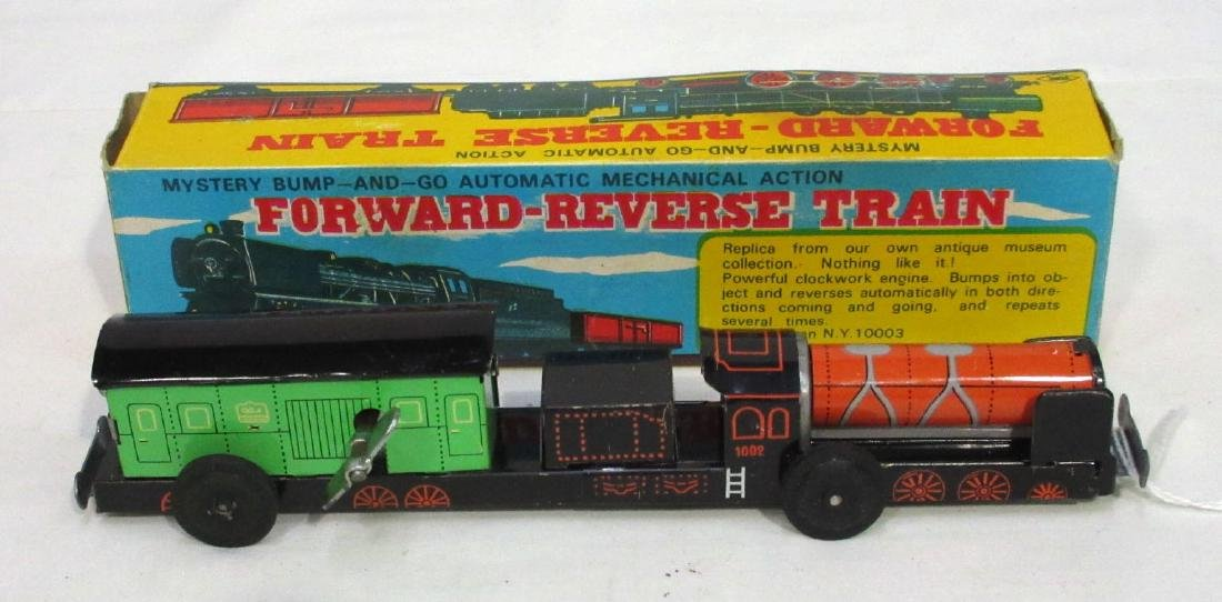 Keywind Tin Forward-Reverse Toy Train