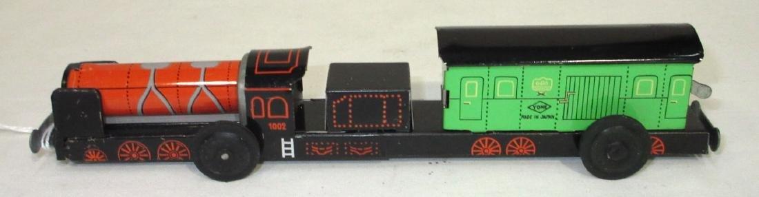 Keywind Tin Forward-Reverse Toy Train - 2