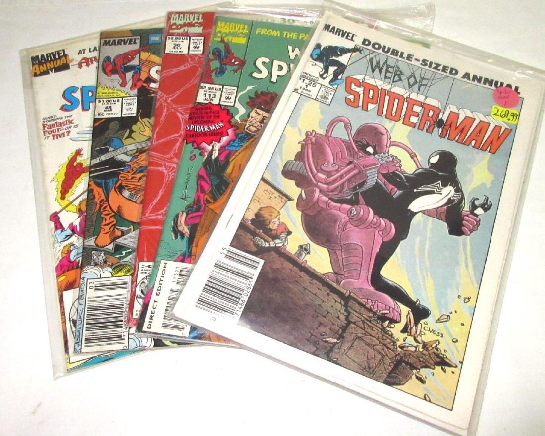 5 Web of Spiderman Comic Mint Unread