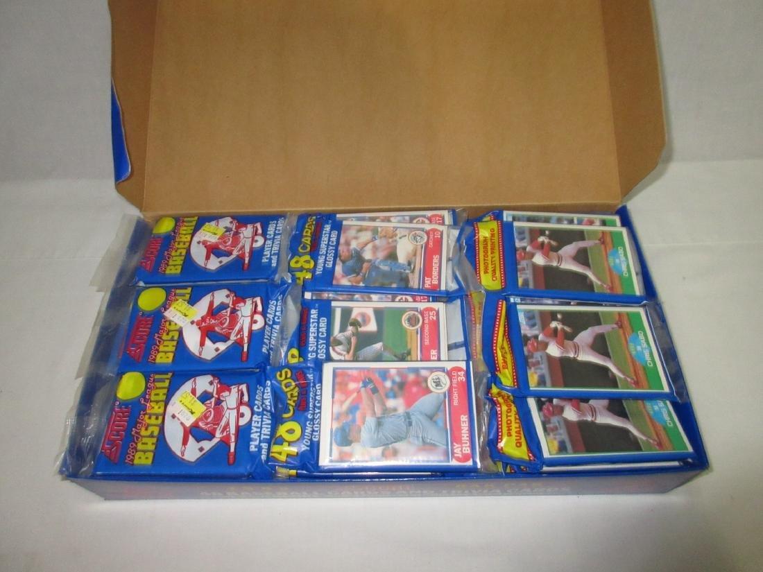 1989 Factory Box Score Baseball Rak Paks