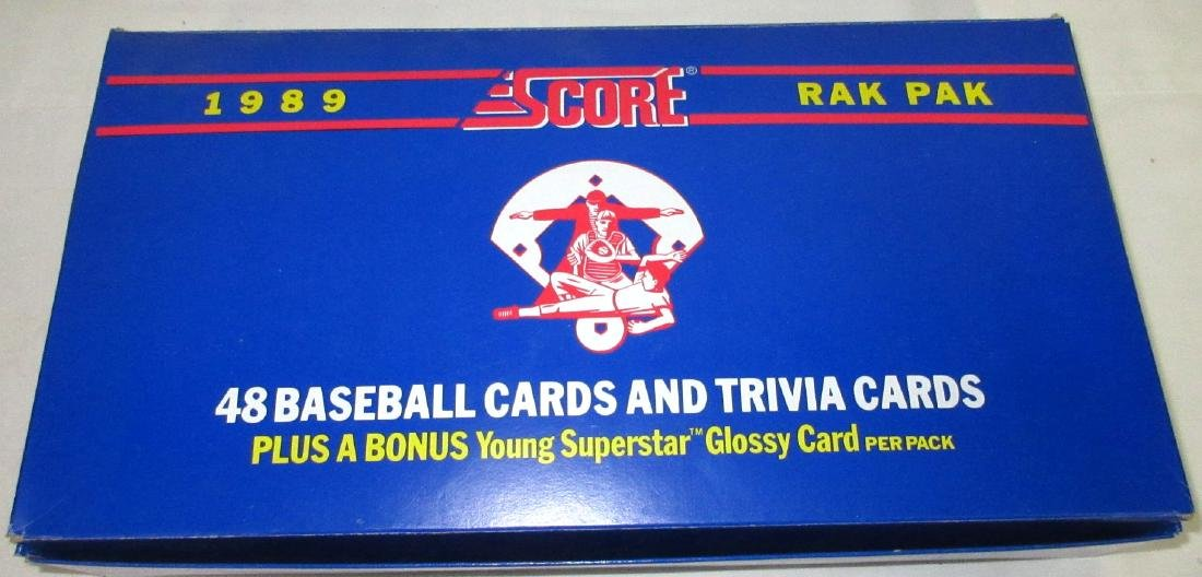 1989 Factory Box Score Baseball Rak Paks - 2