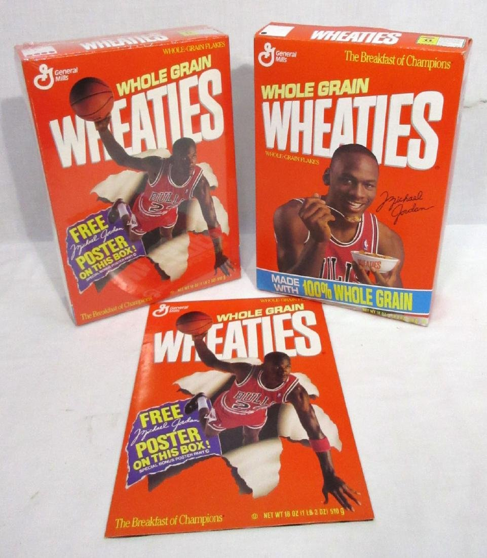 2 Unopened Michael Jordan Wheaties Boxes