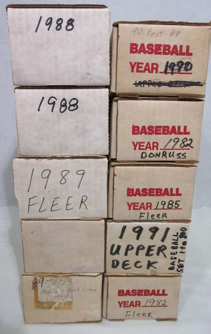 10 Boxes Misc. Baseball Cards - 2