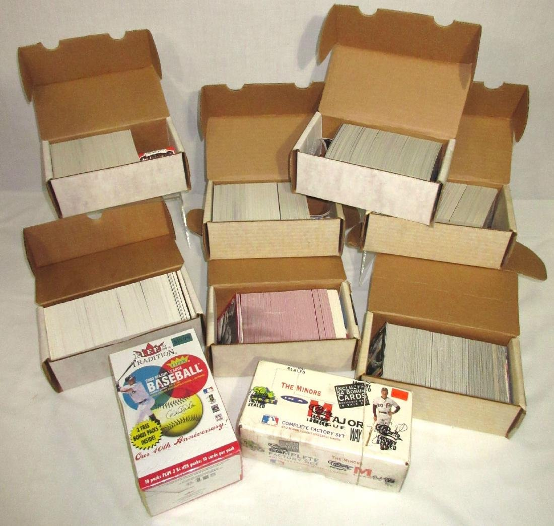 9 Boxes Misc. Baseball Cards