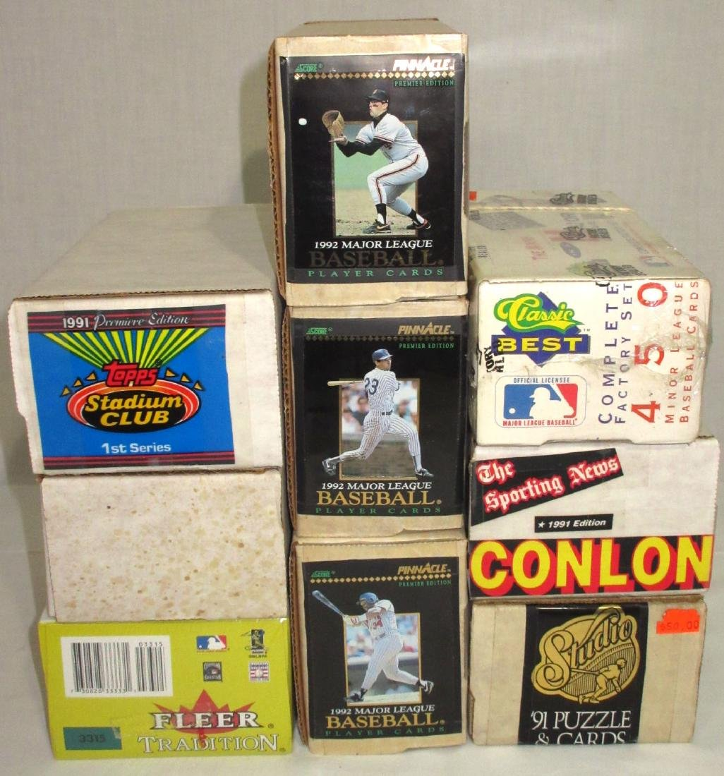 9 Boxes Misc. Baseball Cards - 2