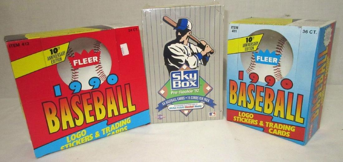3 Factory Boxes Baseball Cards