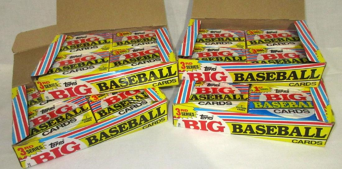 4 Factory Boxes Topps Baseball Cards