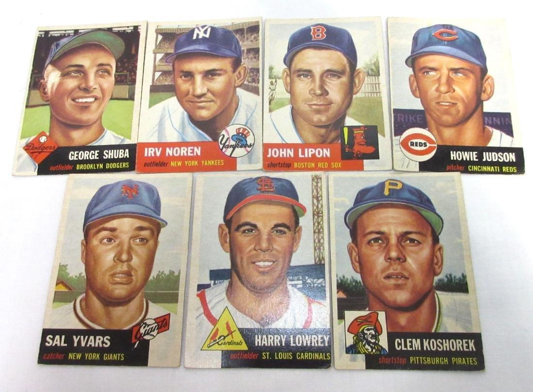 (7) 1953 Topps Baseball Cards