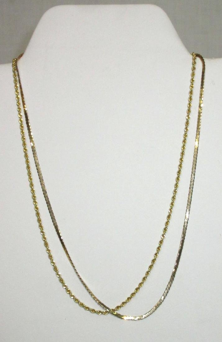(2) 14K Gold Necklaces