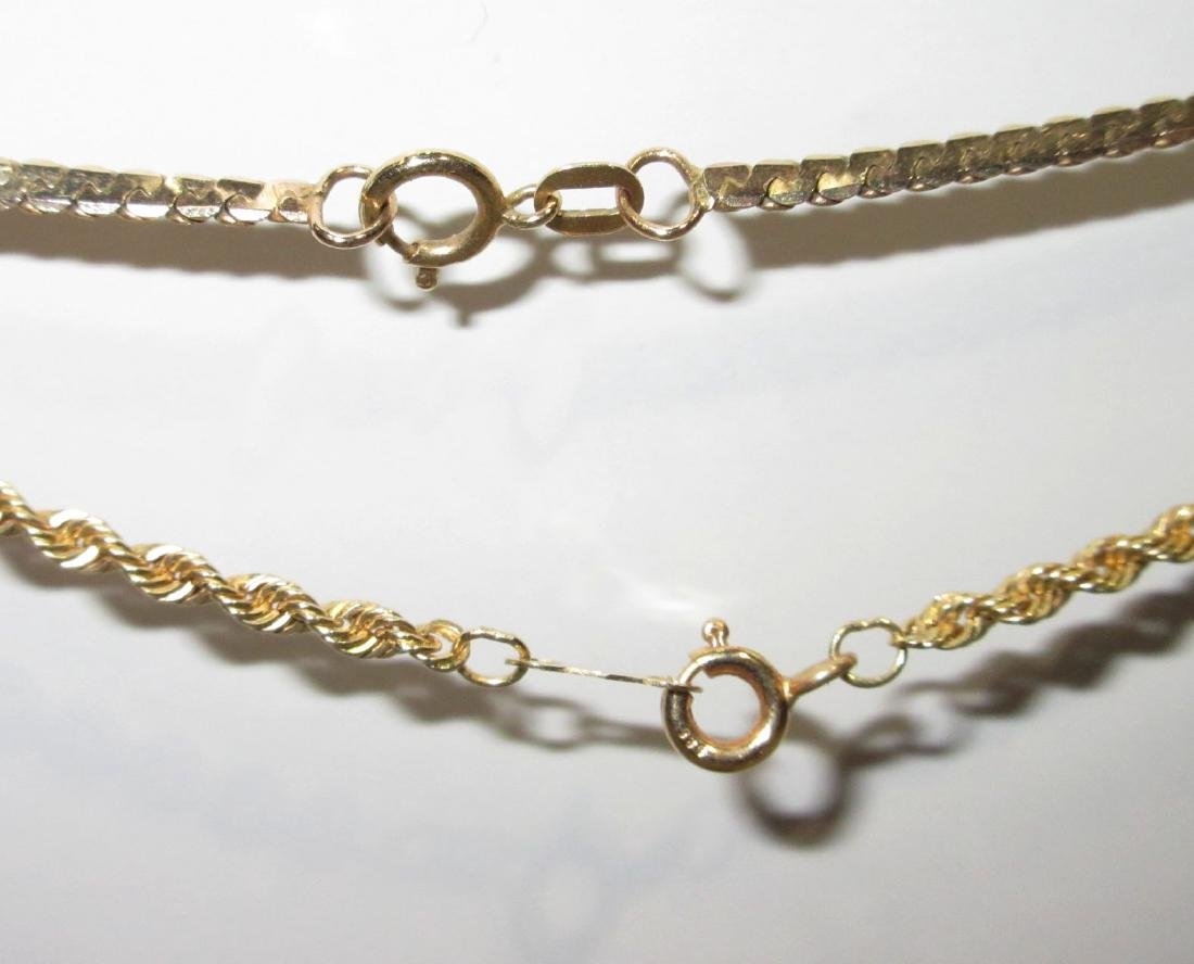 (2) 14K Gold Necklaces - 2