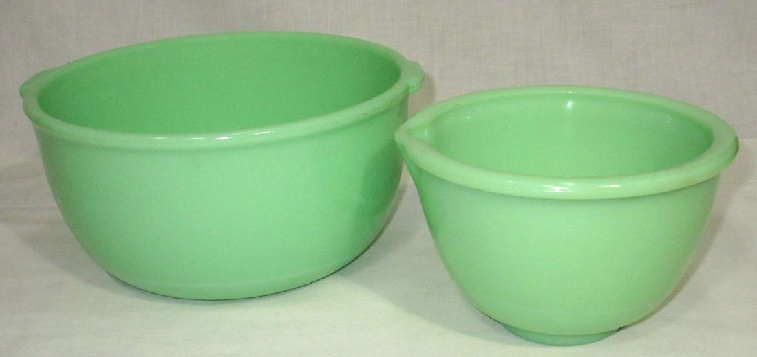 2 Jadeite Mixing Bowls