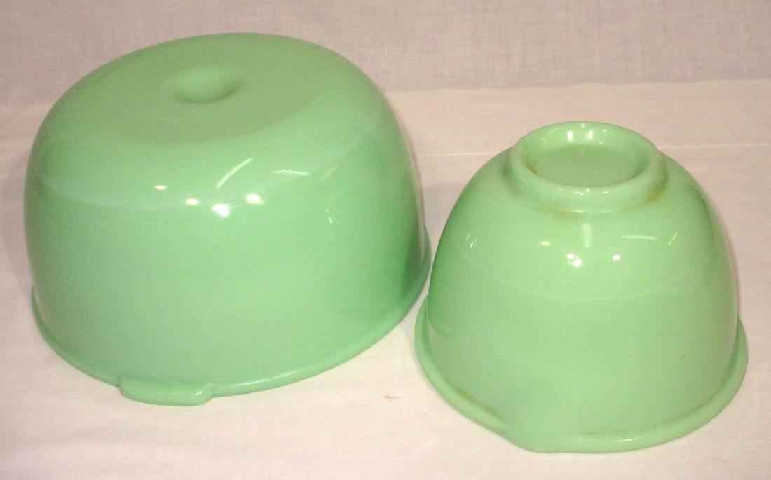 2 Jadeite Mixing Bowls - 2