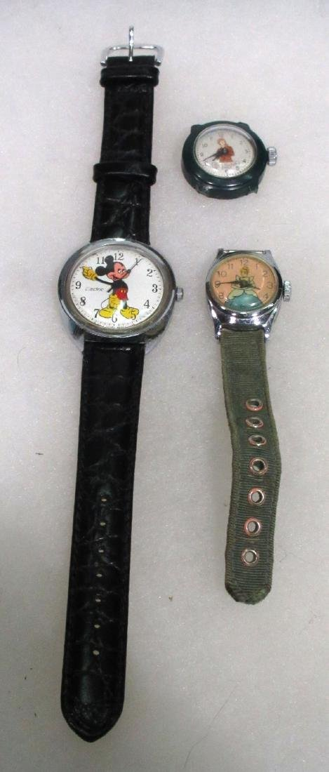 Mickey Mouse, Cinderella, Davy Crocket Wristwatches