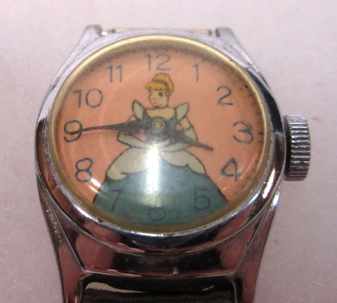 Mickey Mouse, Cinderella, Davy Crocket Wristwatches - 3