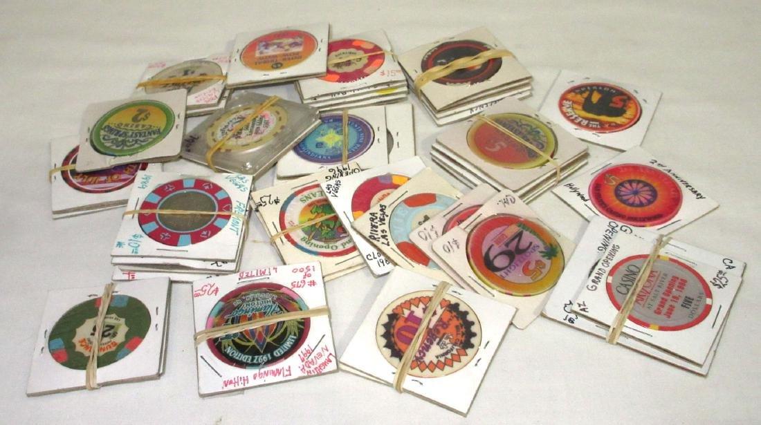 42 Various Casino Poker Chips
