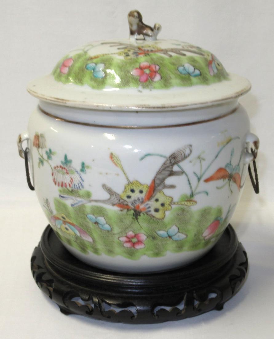 Qing Dynasty Lidded Jar w/ Stand