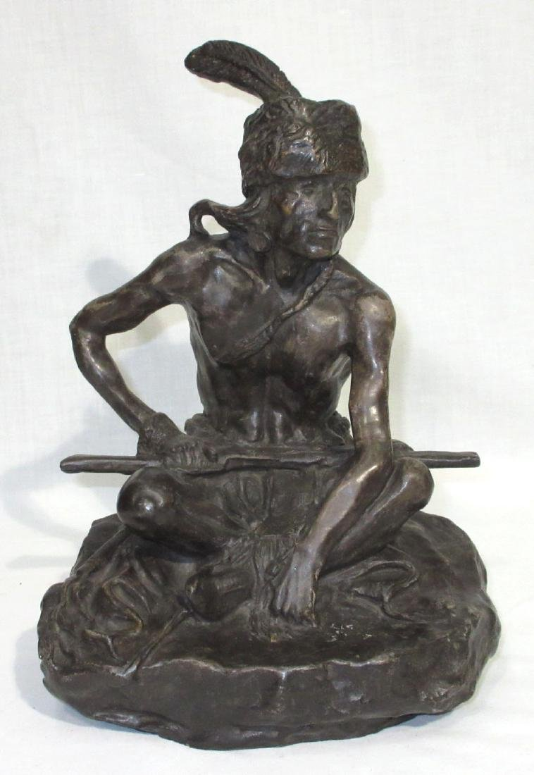 Charles Russell Bronze Patented Indian Statue