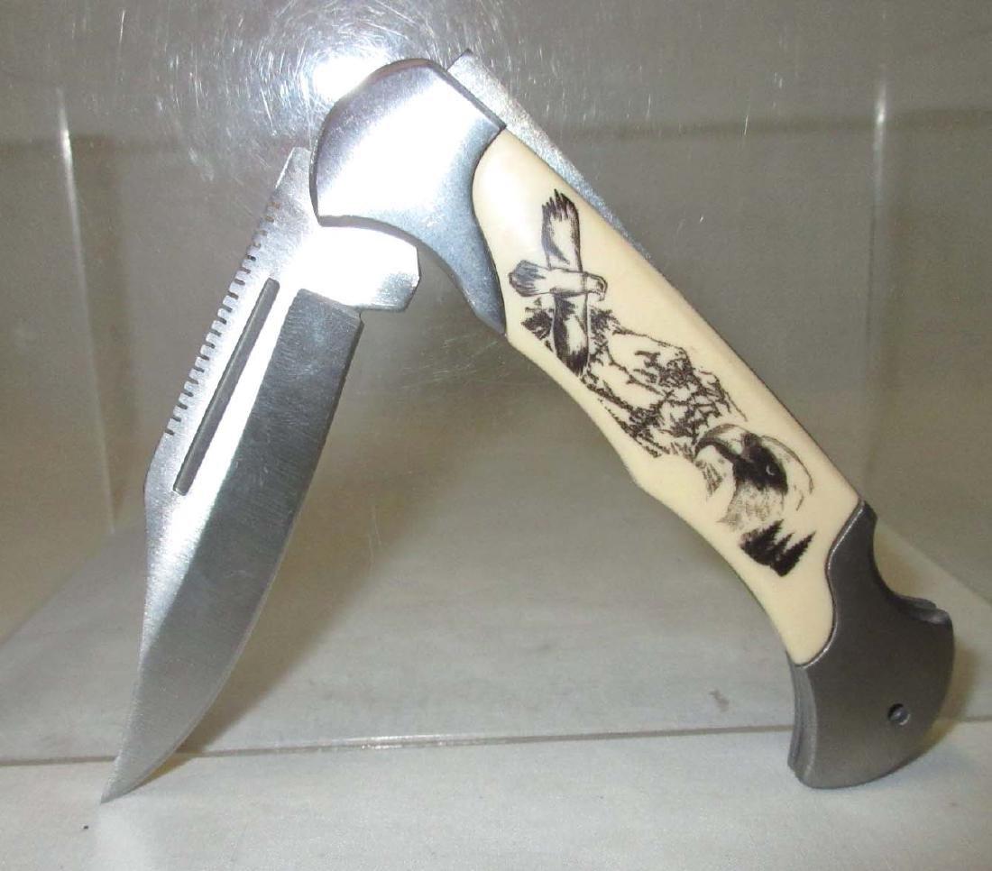"4"" Eagle Handle Pocket Knife"