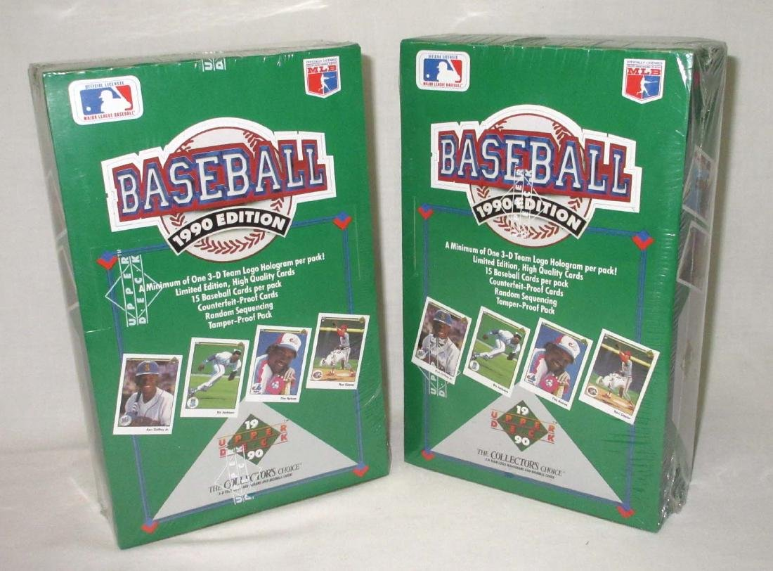 2 Factory Sealed Boxes 1990 Upper Deck Baseball Cards