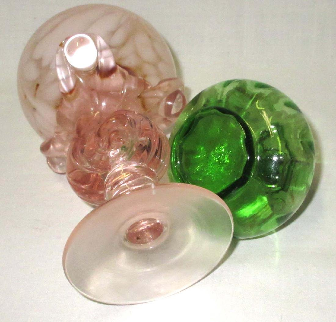 2 Art Glass Perfume Bottles - 3